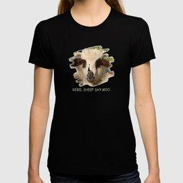 Rebel Sheep Say Moo T-shirt