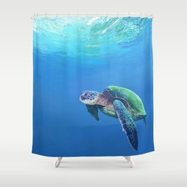 Sea Turtle pattern Shower Curtain