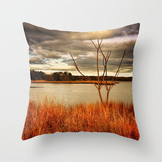 Fall Stalk Throw Pillow