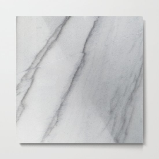 Sophisticated Polished White Marble Metal Print