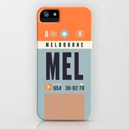 Baggage Tag A - MEL Melbourne Tullamarine Australia iPhone Case