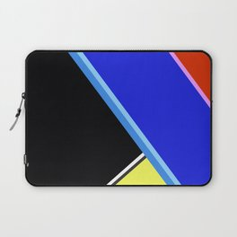 Happy Hues Modern Colorblock Pattern - Black Laptop Sleeve
