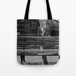 Somebody's glass of wine Tote Bag