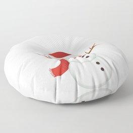 Snowmen Fall from Heaven Unassembled T-Shirt Floor Pillow