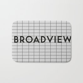 BROADVIEW | Subway Station Bath Mat