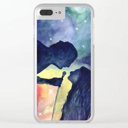 Robbers in watercolor Clear iPhone Case
