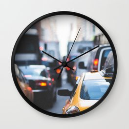TAXI - CAB - CITY - CARS - PHOTOGRAPHY Wall Clock