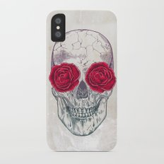 Skull & Roses Slim Case iPhone X
