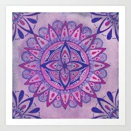Simpe Purpe Manala Art Print