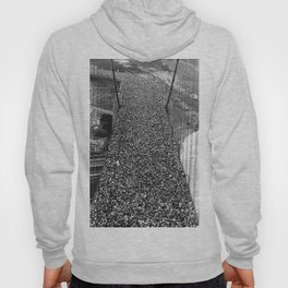 Golden Gate Bridge, San Francisco opening day on May 27th, 1937 black and white photography Hoody