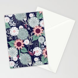 Cool Summer Florals Stationery Cards