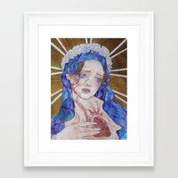 madonna Framed Art Prints featuring Madonna by Danielle Renée Long