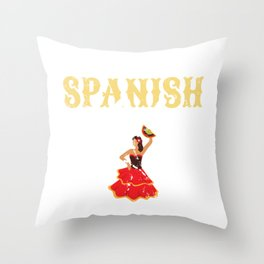 Spain Stunning Spanish Lady Dancer Spainard Throw Pillow