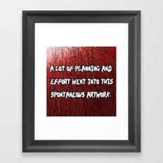spontaneous Framed Art Print