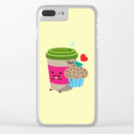 Tea and Muffin Clear iPhone Case