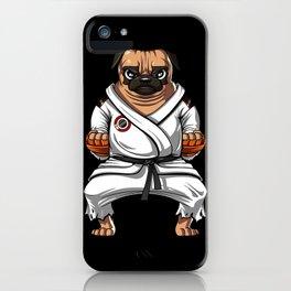 Karate Pug Dog Martial Arts Ninja iPhone Case