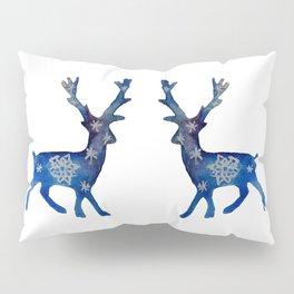 Winter Deer Snowflakes Pillow Sham