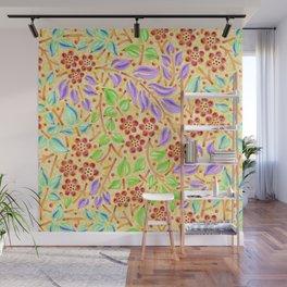 Sunshine Filigree Floral Wall Mural