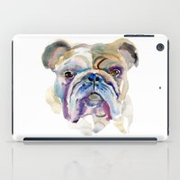 bulldog iPad Cases featuring Bulldog by coconuttowers