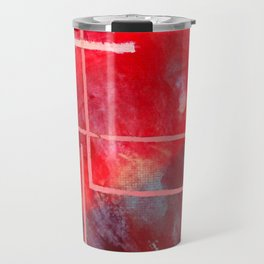 Jubilee: a vibrant abstract piece in reds and pinks Travel Mug