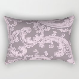 Retro Chic Swirl Ballet Slipper Rectangular Pillow