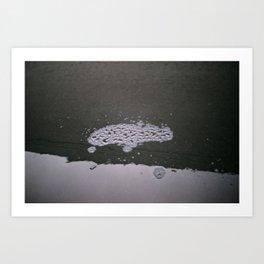 Hydrogen Monoxide FootPrint Art Print