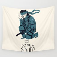 solid Wall Tapestries featuring do me a solid. by Louis Roskosch