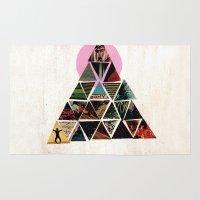 pyramid Area & Throw Rugs featuring PYRAMID by dara dean