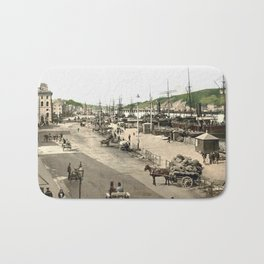 Quays of Waterford - Ireland - 1890s Bath Mat