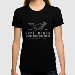 Captain Ahab's Whale Watching Tour Tee | Moby Dick design T-shirt