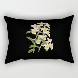 Orchid botanical illustration Rectangular Pillow