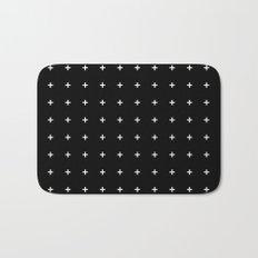 White Plus on Black /// www.pencilmeinstationery.com Bath Mat