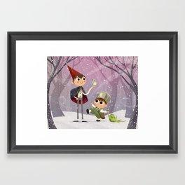 The Garden Wall Framed Art Print