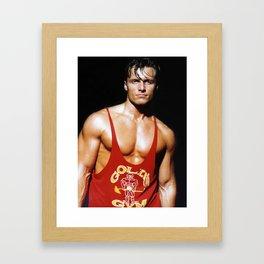 Muscular Man Framed Art Print