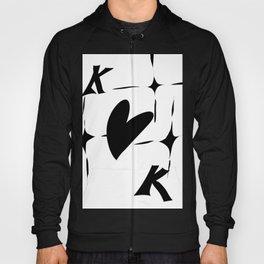 King Of Hearts Monochrome Hoody