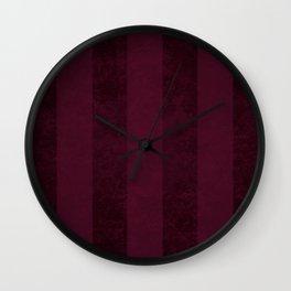 Red Wine Stripes Wall Clock
