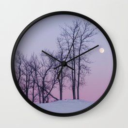 Winter comes to Sandbanks Wall Clock