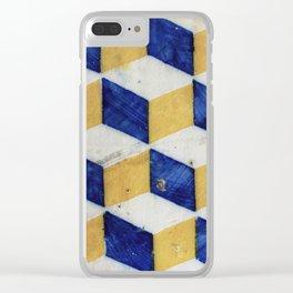 Portuguese tiles pattern Clear iPhone Case