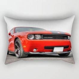 Red Dodge Challenger Rectangular Pillow