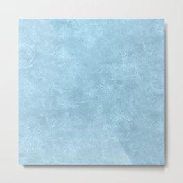 Aquamarine Oil Pastel Color Accent Metal Print