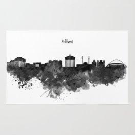 Athens Black and White Skyline Rug