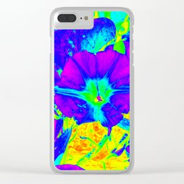 Floral 103 Clear iPhone Case