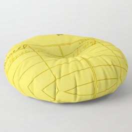 Library Card 797 Yellow Floor Pillow