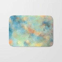"Colored crystals . ""Sunbeams"" . Bath Mat"