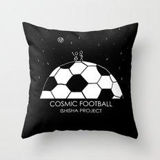 COSMIC FOOTBALL by ISHISHA PROJECT Throw Pillow