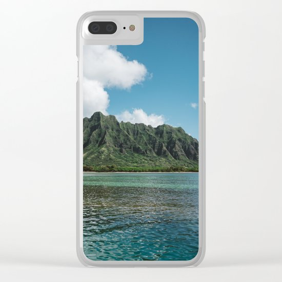 Hawaiian Mountain II Clear iPhone Case