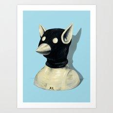 Bandit Hat Art Print