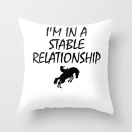 Horse Cowboy Cowgirl product Throw Pillow