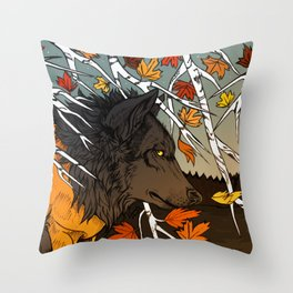 The last breath of summer Throw Pillow