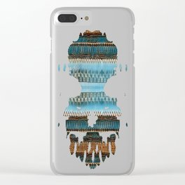 Candle Arches: Jagged/Sharp -  Blue Orange Brown Clear iPhone Case